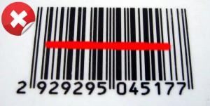 Lectura errónea de codigo de barras
