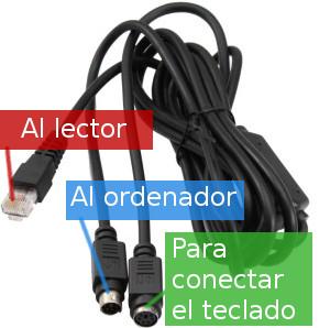 Conector de lector código de barras PS2