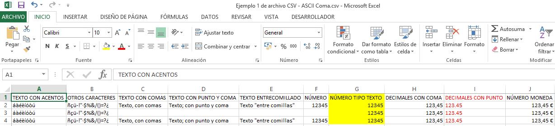 Ejemplo CSV 1