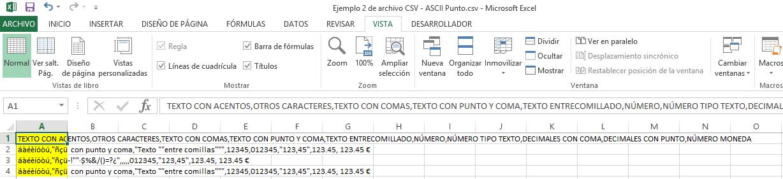 Ejemplo CSV 2