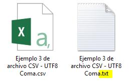renombrar archivo CSV a TXT